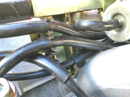 924S spark plug harness clip in place