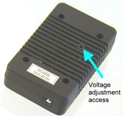 Voltage adjustment access hole