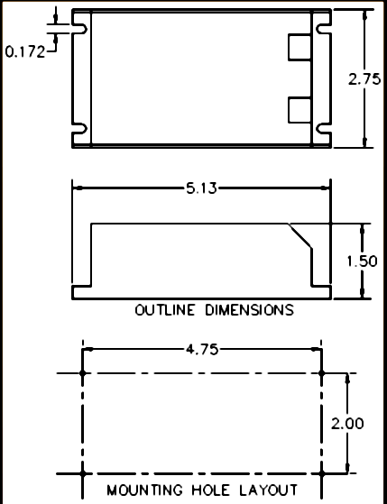 mounting diagram for the low voltage inverter series