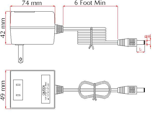 Switchmode Wall Mount Power Supply Dimensions