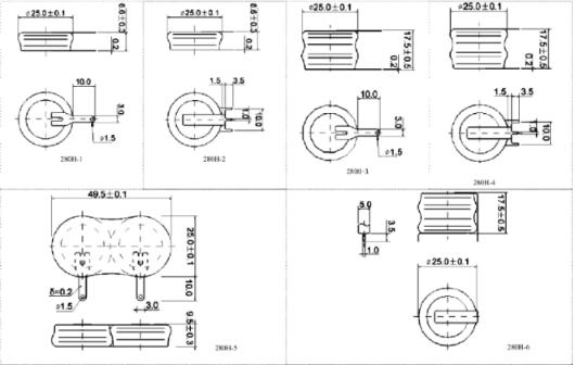 Click here for enlarged view of the coin cell pins and configurations
