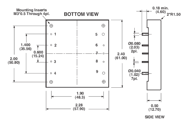 Click here for a larger view of the DC/DC converter drawing