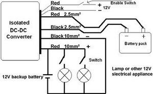 hookup diagram for electric vehicle dc/dc converters