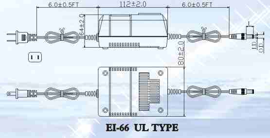 Dimensions of 15 to 40 Watt Desk top Transformers