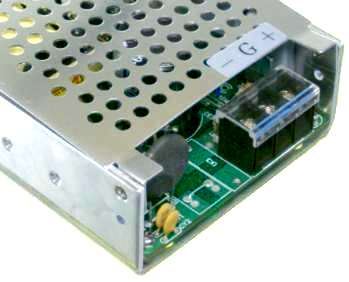 48VDC to 24VDC dc to dc converter input terminals