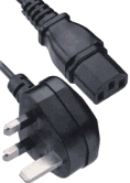 England, UK 3-prong AC plug