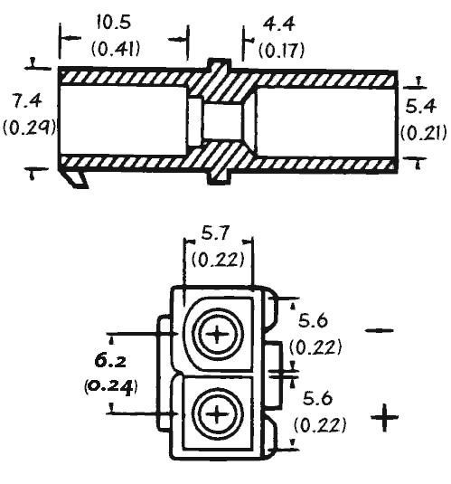 connectors for low voltage and battery pack wiring