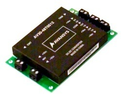 AV30-48T0512 triple output DC converter on a circuit board