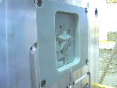 B side of an SLA created injection mold