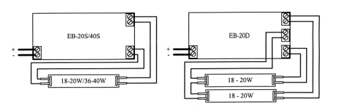 hookup diagram for electronic ballast