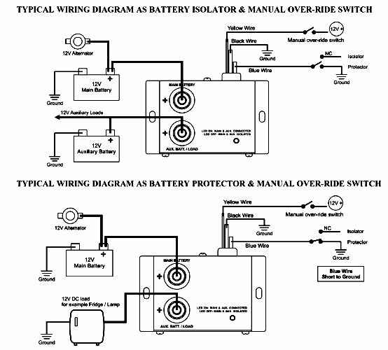truck auxiliary battery wiring diagram