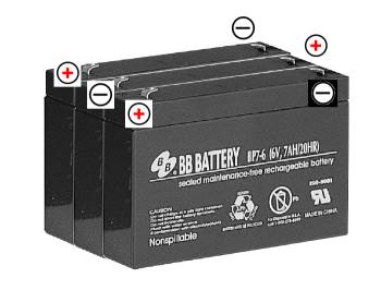 3 bp7-6 batteries in series
