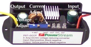 labeled components of the constant-current DC/DC converter
