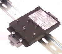DIN rail mounting option, click for a larger picture