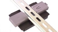 DIN rail mount from the bottom