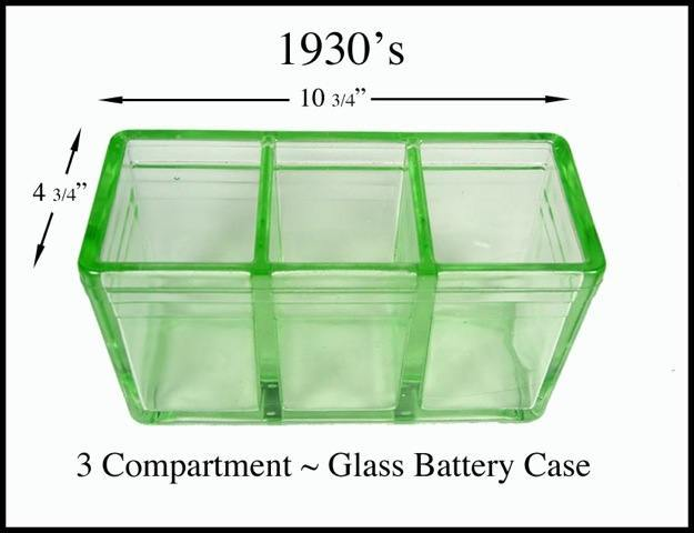 unused 6V glass lead acid battery case