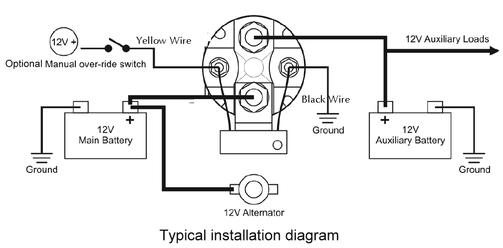 robust inexpensive 12v 150 amp smart battery isolator and smart installation diagram for battery isolator