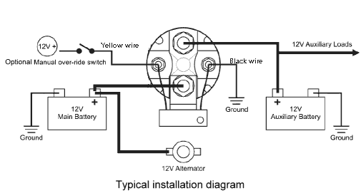 Battery Isolator on battery isolator wiring diagram rv