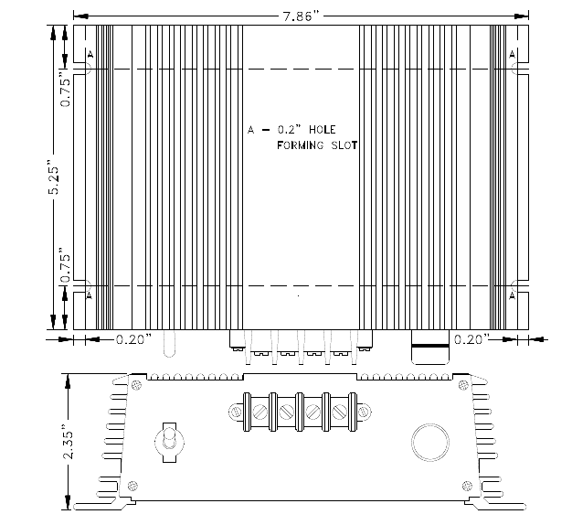 drawing of the 12V to 12V DC/DC converter