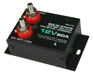 12 Volt And 24 Volt 80 Amp Dc Battery Isolator And Split